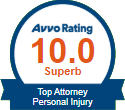 AVVO Rating 10 in Personal Injury